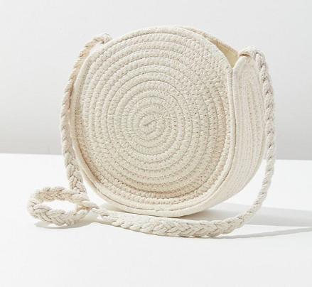 UO Circle Woven Crossbody Bag