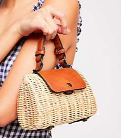 FP Mini Wicker Crossbody Bag
