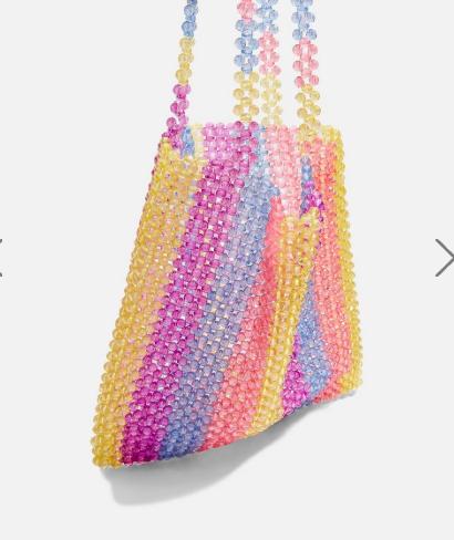 Topshop Beaded Tote Bag