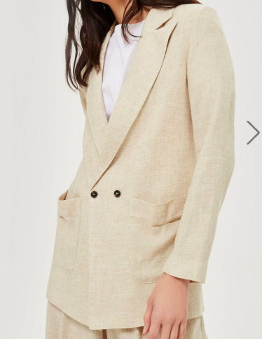 Topshop Linen Mix Jacket