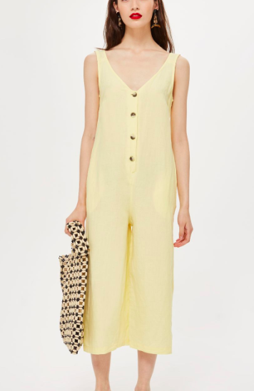 Topshop Button Slouch Jumpsuit