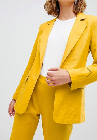 Unique 21 linen blazer two-piece