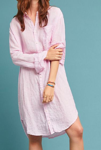 CP Shades Oversized Linen Shirtdress