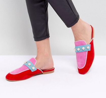 Essentiel Antwerp Pearl Embellished Slip On Loafers