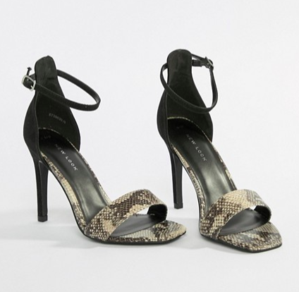 New Look Animal Print Heeled Sandals