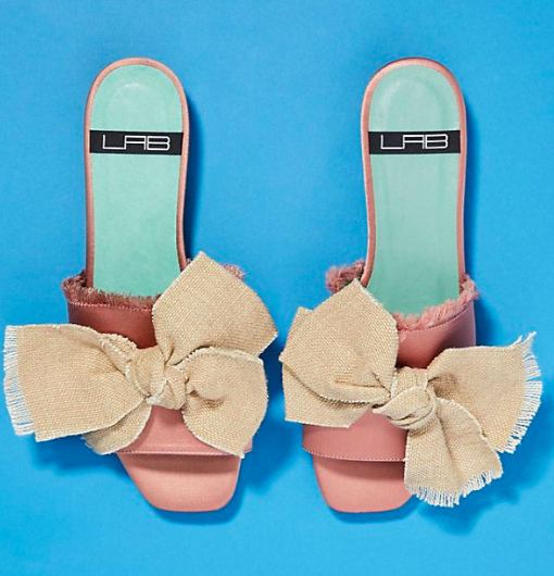 LAB Bow-Tied Slide Sandals