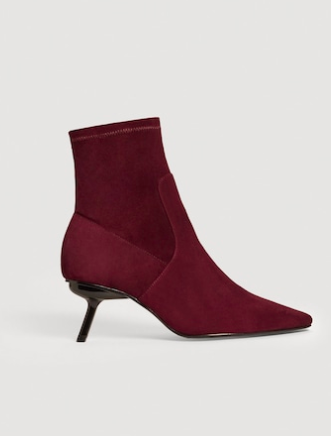 Mango Suede sock ankle boots