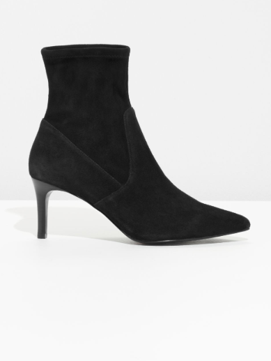 Strories Stretch Suede Ankle Boots