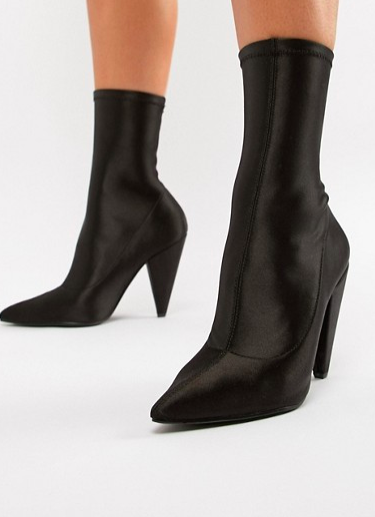ASOS DESIGN Elope Pointed Sock Boots