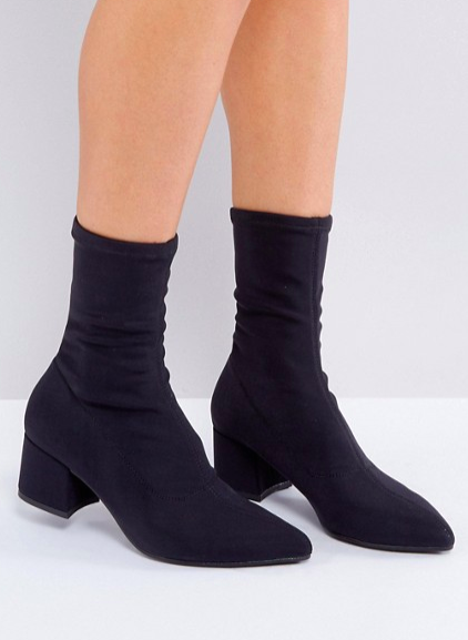 Vagabond Mya Black Stretch Sock Boots