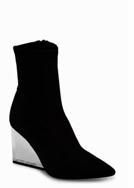 Siren Clear Wedge Sock Bootie JEFFREY CAMPBELL