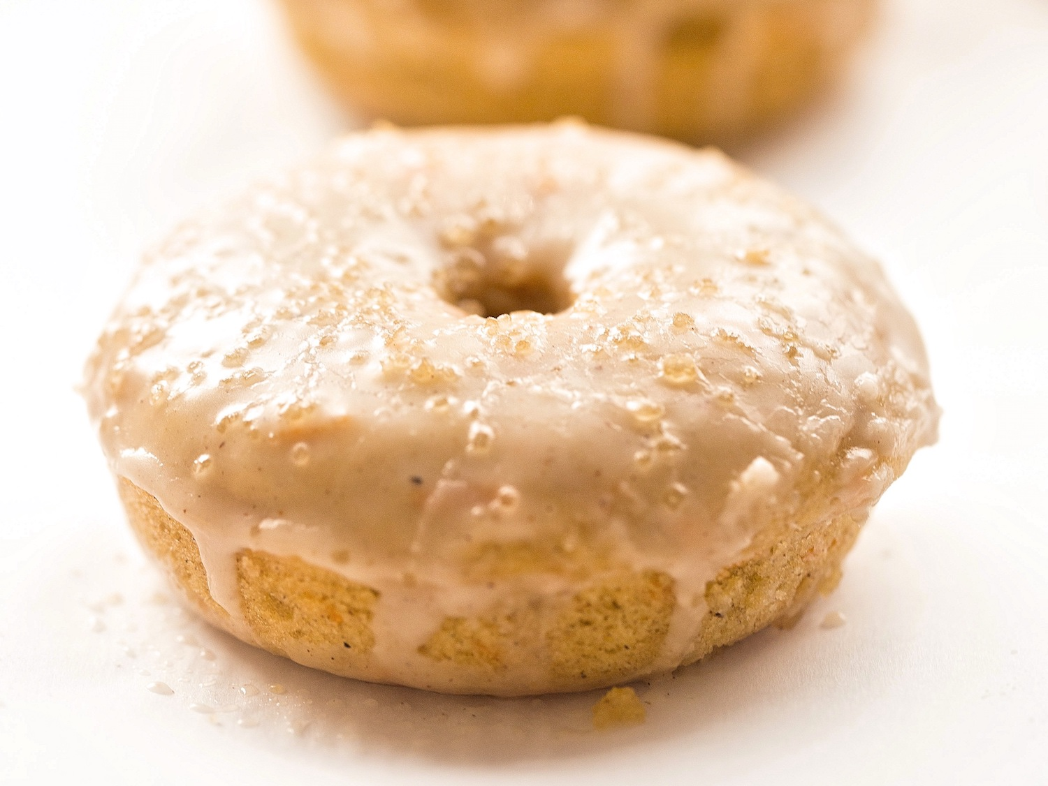 Cinnamon Glazed Baked Carrot Cake Donuts Truffles And Trends