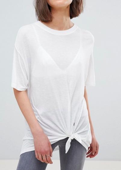 AllSaints Tie Front Oversized T-Shirt