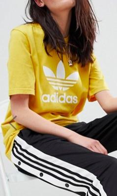 adidas Originals adicolor Trefoil Oversized T-Shirt In Yellow