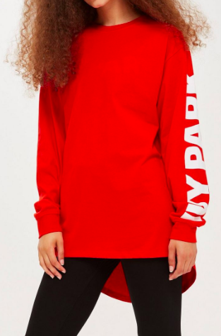 Oversized Long Sleeve T-Shirt by Ivy ParkOversized Long Sleeve T-Shirt by Ivy Park