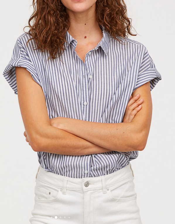 HM Short-sleeved Cotton Shirt