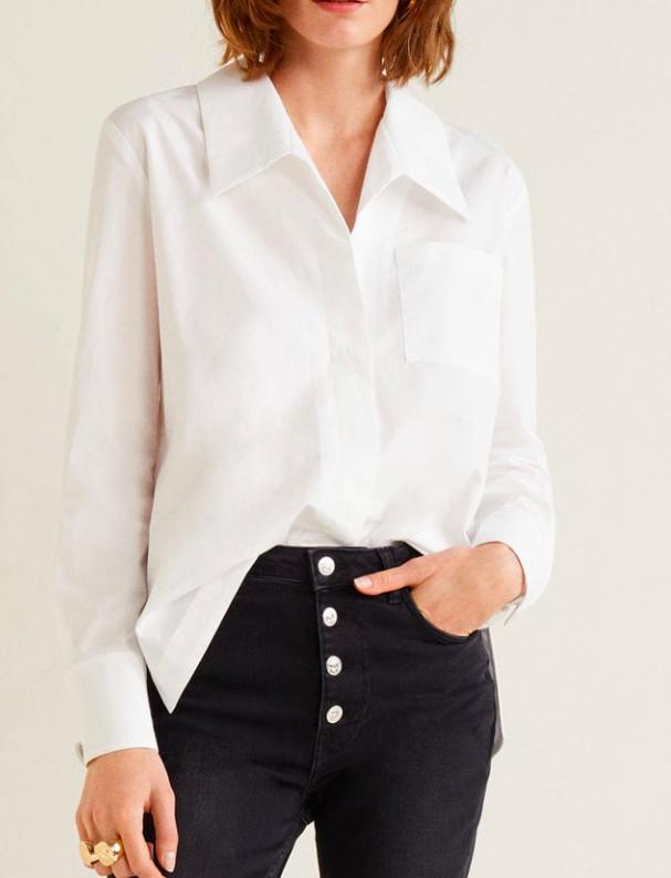 MAngo Oversize organic cotton shirt