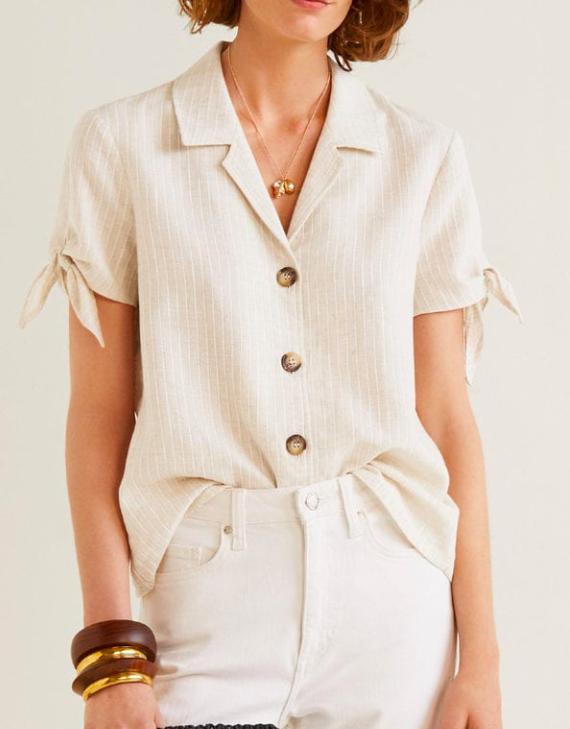 Mango Knots linen shirt
