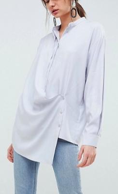 ASOS WHITE Wrap Shirt