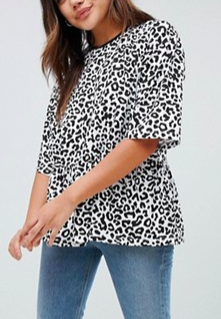 ASOS DESIGN mono animal smock t-shirt