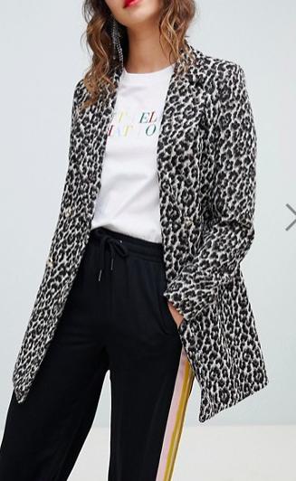 River Island leopard print coat