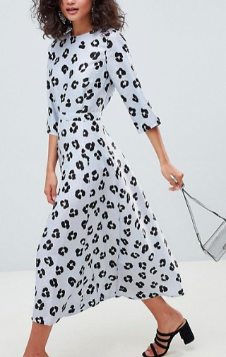 ASOS DESIGN jacquard maxi dress in leopard print