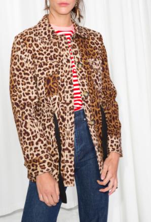 Stories Leopard Print Jacket