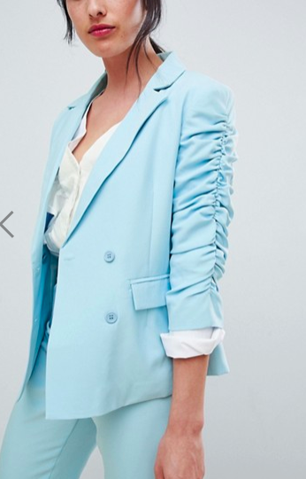 Unique 21 ruched sleeve blazer