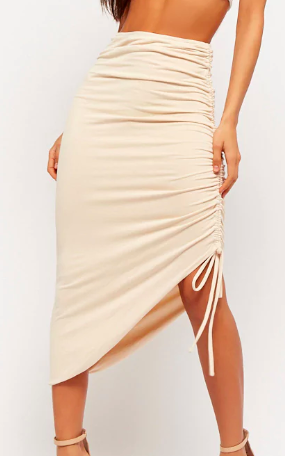 Forever 21 Ruched Midi Skirt