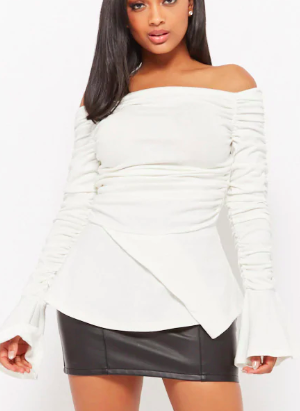 Forever 21 Ruched Off-the-Shoulder Top