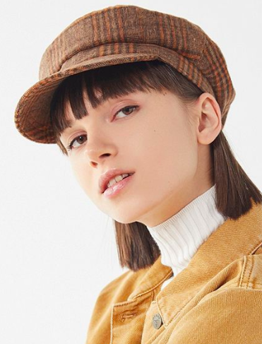 UO Plaid Baker Boy Hat