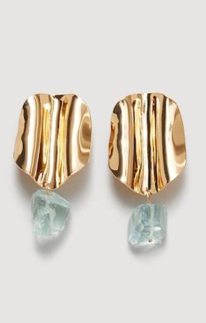 Mango Resin metal earrings