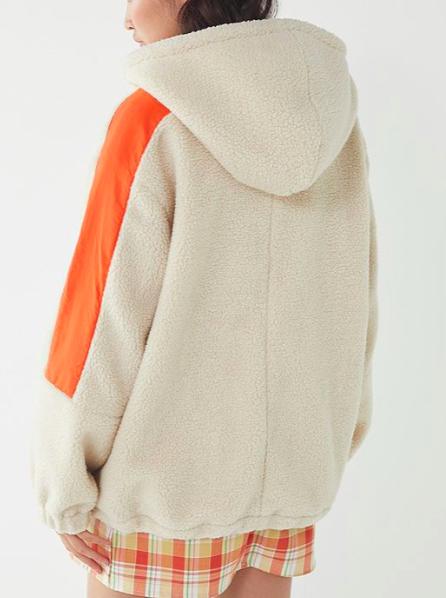 UO Kenzie Sherpa Popover Jacket