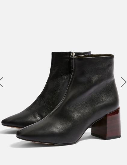 TOPSHOP Marlene Mid Heel Ankle Boots