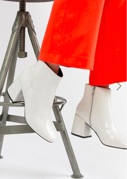 ASOS DESIGN Rural Patent Ankle Boots