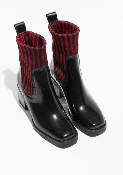 Stories Elastic Rib Shaft Boots