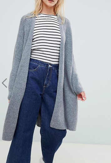 ASOS DESIGN eco oversize cardigan in fluffy yarn
