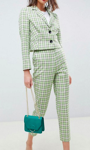 ASOS DESIGN tailored yellow and green check suit