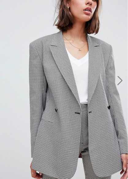 ASOS DESIGN tailored checked blaze
