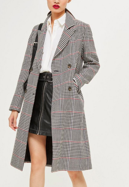 Topshop Clean Check Coat