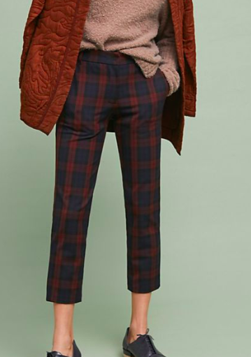 Athropologie Brenley Plaid Pants