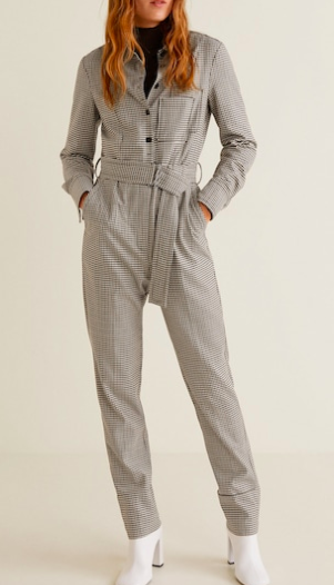 Mango Gingham check jumpsuit