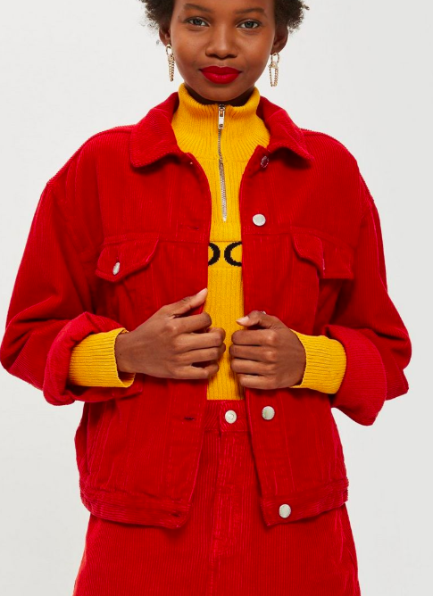 Topshop Corduroy Boxy Jacket