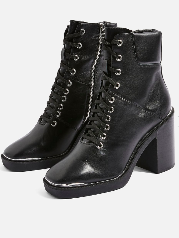 Topshop HIKE Lace Up Hiker Boots