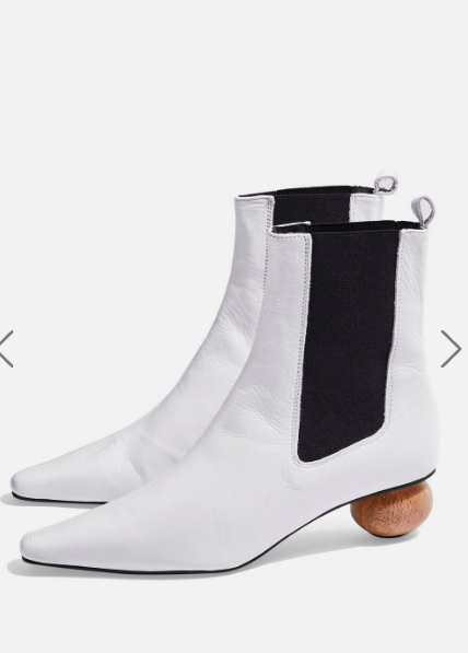 Topshop MAGICIAN Sculptured Heel Ankle Boots