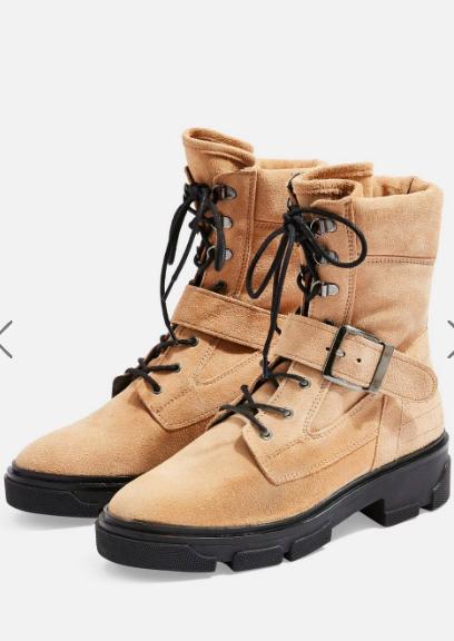 Topshop AMERICA Flat Biker Boots