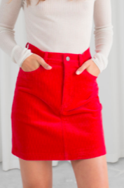 Stories Corduroy Mini Skirt