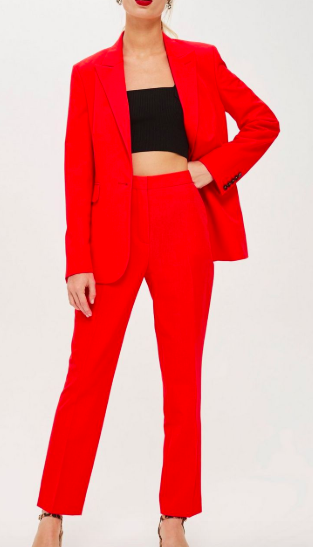 Topshop Coral High Waisted Suit
