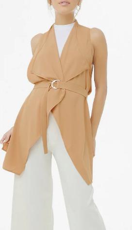 Forever 21 Wrap-Front Longline Vest