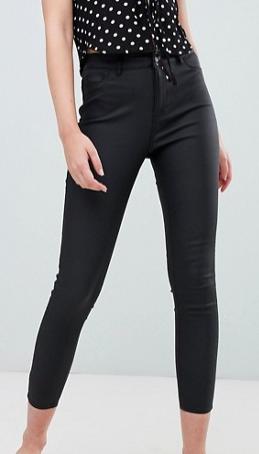 Urban Bliss Leather Look Skinny Jean